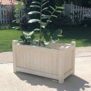 White Painted Wood Planter Box